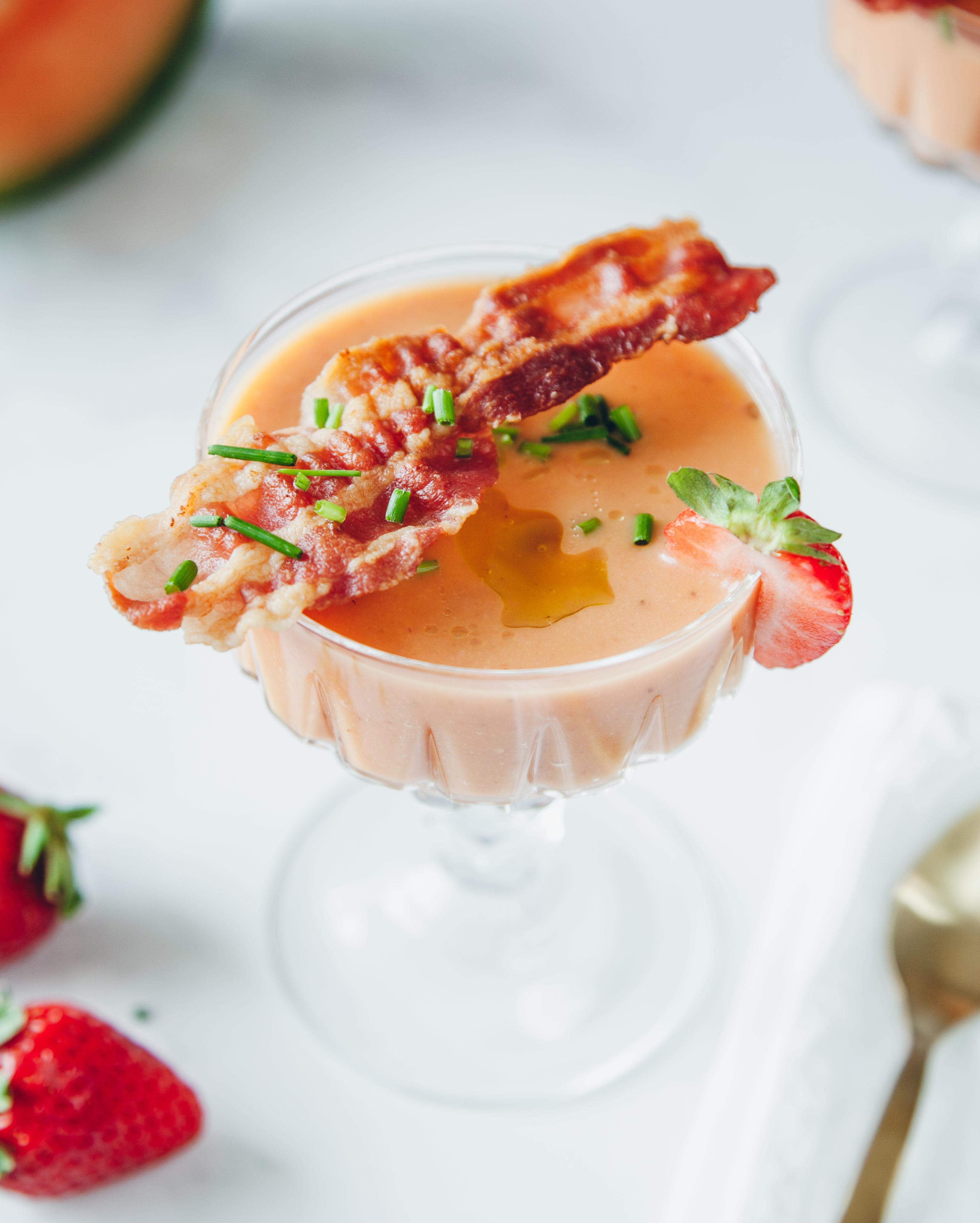 Gazpacho di melone con crispy bacon