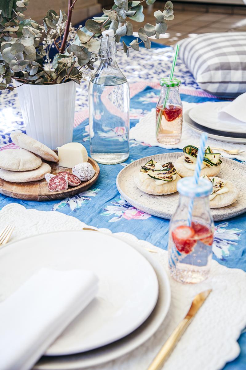 Pic Nic di Pasquetta// aperitivo con Pita formaggio e zucchine.