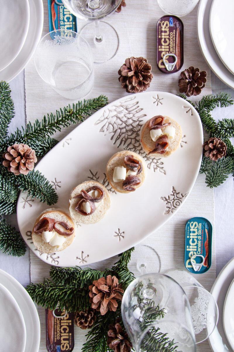 Mini panettoni gastronomici con alici Delicius